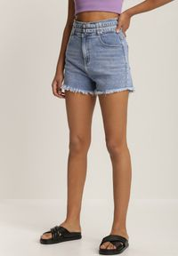 Renee - Niebieskie Szorty Jeansowe Pethisia. Kolor: niebieski. Materiał: jeans