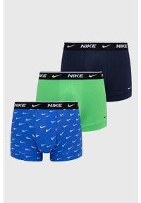Nike - Bielizna KE1008. Kolor: niebieski. Materiał: włókno, skóra, tkanina