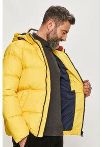 Żółta kurtka Tommy Jeans z kapturem, na co dzień, casualowa