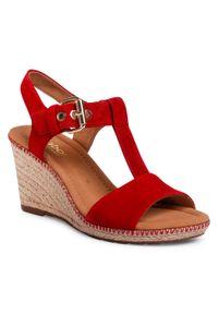Czerwone sandały Gabor