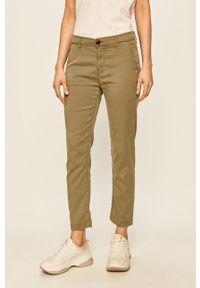 Zielone spodnie materiałowe Pepe Jeans