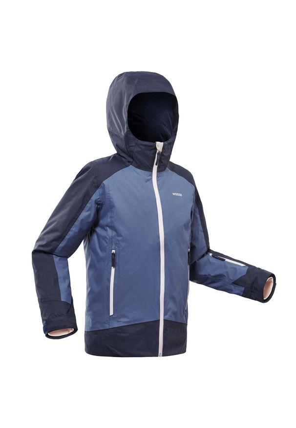 WEDZE - Kurtka narciarska 500 dla dzieci. Kolor: niebieski. Materiał: materiał. Sezon: zima. Sport: narciarstwo