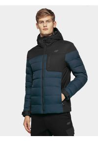 Niebieska kurtka puchowa 4f na zimę