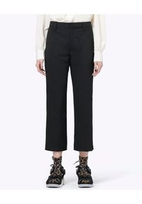 THE MARC JACOBS - Spodnie wełniane. Okazja: na co dzień. Kolor: czarny. Materiał: wełna. Styl: casual