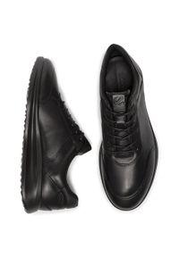 Czarne sneakersy ecco na co dzień, z cholewką