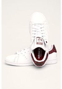 Białe buty sportowe adidas Originals Adidas Stan Smith, na obcasie