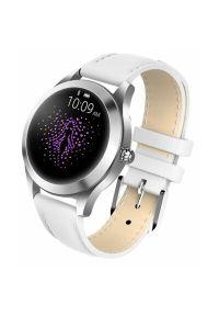 Biały zegarek GARETT smartwatch, elegancki