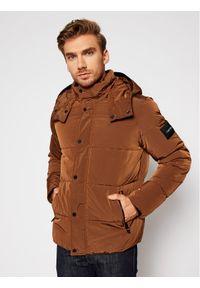 Brązowa kurtka zimowa Calvin Klein