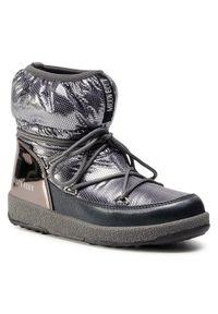 Srebrne śniegowce Moon Boot