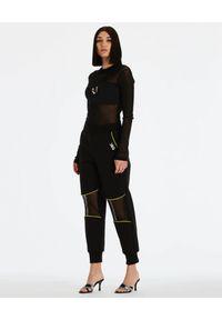 DSG - Czarne spodnie Gym. Kolor: czarny. Materiał: dresówka, materiał, bawełna