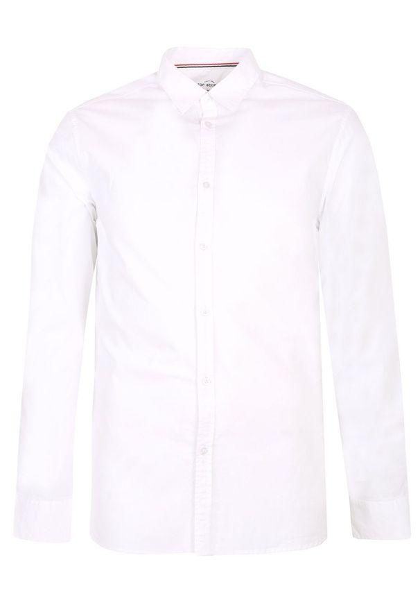 Biała koszula TOP SECRET długa, z długim rękawem, na lato, w kolorowe wzory