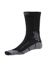 Skarpety trekingowe X-Socks Trek Silver XSTS07. Materiał: materiał, wełna, elastan, poliamid, skóra, poliester. Sport: turystyka piesza