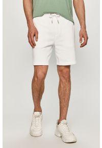 Białe szorty Calvin Klein Jeans na co dzień, gładkie, casualowe