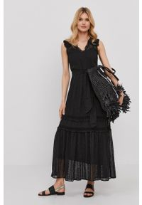 Liu Jo - Sukienka. Kolor: czarny. Typ sukienki: rozkloszowane