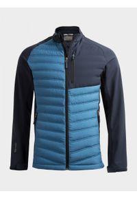 Niebieska kurtka puchowa outhorn melanż