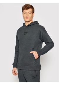 Reebok Bluza Training Essentials Melange GI8564 Czarny Regular Fit. Kolor: czarny
