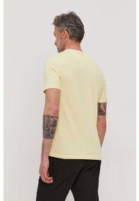 Żółty t-shirt Lyle & Scott gładki, na co dzień, casualowy
