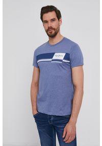 Pepe Jeans - T-shirt Kade. Okazja: na co dzień. Kolor: fioletowy. Wzór: nadruk. Styl: casual