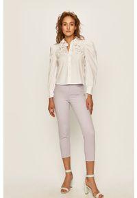 Fioletowe spodnie materiałowe ANSWEAR