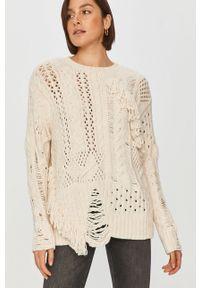 Beżowy sweter Answear Lab na co dzień, długi, z długim rękawem, wakacyjny