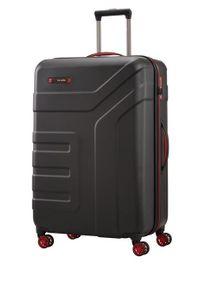 Travelite - TRAVELITE VECTOR Walizka duża 103L Schwarz 4-koła. Kolor: czarny. Materiał: materiał