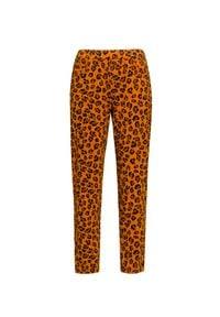 Deha - Spodnie DEHA EASY. Materiał: bawełna, elastan. Wzór: nadruk, aplikacja, motyw zwierzęcy