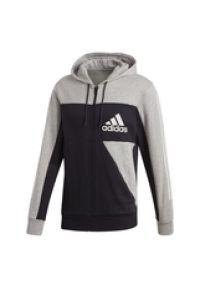 Bluza z kapturem Adidas długa, sportowa, z długim rękawem