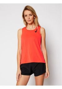Nike Koszulka techniczna Aeroswift Singlet CJ7835 Pomarańczowy Slim Fit. Kolor: pomarańczowy