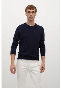 Niebieski sweter Mango Man z długim rękawem, na co dzień