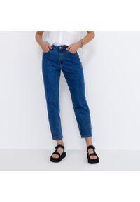 House - Mom jeans slim - Granatowy. Kolor: niebieski