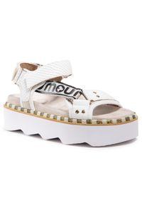 Białe sandały Mou