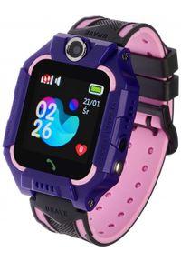Fioletowy zegarek GARETT casualowy, smartwatch