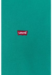 Levi's® - Levi's - Bluza. Okazja: na co dzień, na spotkanie biznesowe. Kolor: zielony. Materiał: dzianina. Wzór: gładki, aplikacja. Styl: biznesowy, casual
