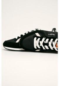 Czarne sneakersy Pepe Jeans z cholewką, na sznurówki, z okrągłym noskiem