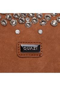 Brązowa torebka klasyczna QUAZI klasyczna, zamszowa