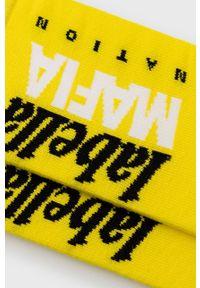 LABELLAMAFIA - LaBellaMafia - Skarpetki. Kolor: żółty