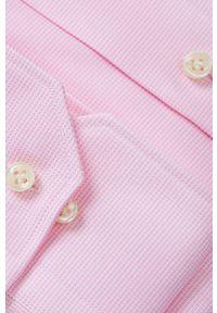 Różowa koszula Emanuel Berg długa, z klasycznym kołnierzykiem, elegancka