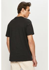 adidas Originals - T-shirt. Kolor: czarny. Materiał: dzianina. Wzór: nadruk