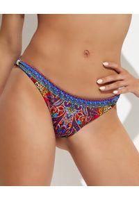 Camilla - CAMILLA - Kolorowe bikini Psychedelica. Stan: obniżony. Kolor: różowy, wielokolorowy, fioletowy. Materiał: tkanina. Wzór: kolorowy