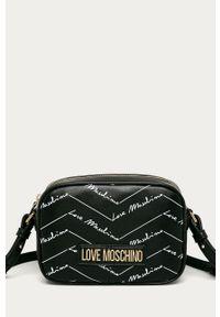 Czarna listonoszka Love Moschino mała, na ramię