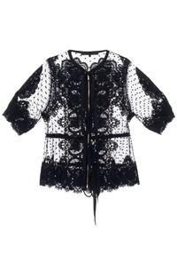 Czarna bluzka Elie Saab z kokardą, elegancka, z aplikacjami