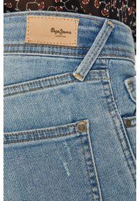 Niebieskie szorty Pepe Jeans casualowe, gładkie