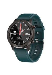Zielony zegarek GARETT wakacyjny, smartwatch