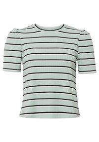 Zielona bluzka bonprix w paski
