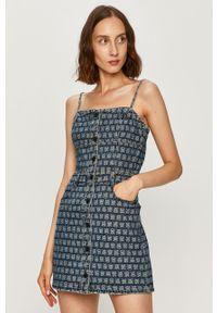 Niebieska sukienka Miss Sixty na ramiączkach, casualowa