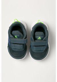 Szare buty sportowe Adidas do biegania, z okrągłym noskiem
