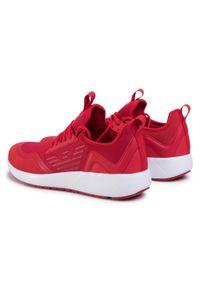Czerwone sneakersy EA7 Emporio Armani na co dzień, z cholewką