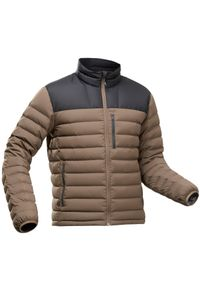 FORCLAZ - Kurtka trekkingowa męska puchowa komfort -10°C Forclaz Trek 500. Kolor: czarny. Materiał: puch