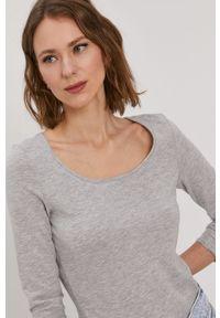 Szara bluzka Vero Moda casualowa, gładkie, na co dzień