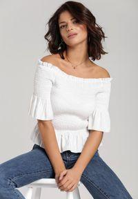 Biała bluzka hiszpanka Renee
